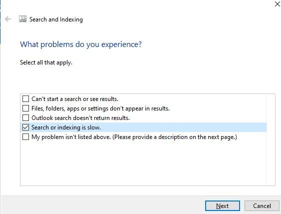 windows средство исправления проблем службы поиска windows search