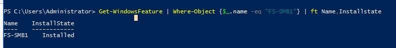 проверить что в windows server установлен компонент FS-SMB1