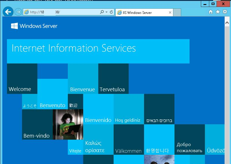 Веб сервер IIS: default site