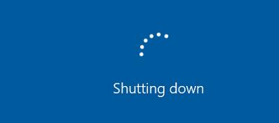 Shutting down - windows корректно отключается