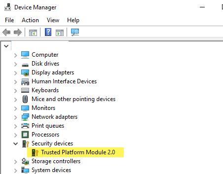 Виртуальное устройство Trusted Platform Module 2.0