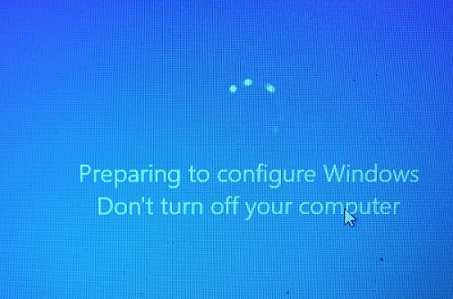 Windows завис после установки обновлений с нанписью Подготовка к настройке Windows. Не выключайте компьютер. что делать?