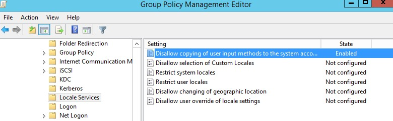 Disallow copying of user input methods to the system account for sign-in