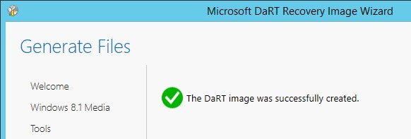 dart image was successfully created