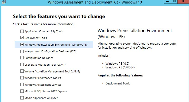 Deployment Tools + • Windows Preinstallation Environment