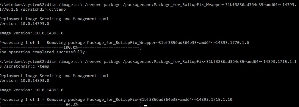 dism remove package