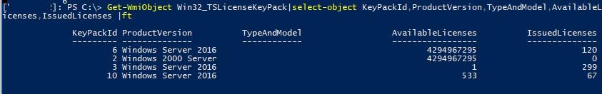 rdc licensing cal Win32_TSLicenseKeyPack
