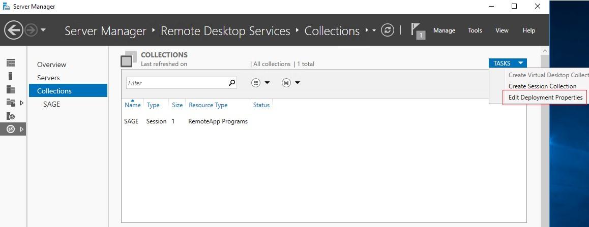 rds изменить настройки Edit Deployment Properties