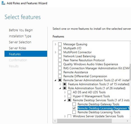 установка Remote Desktop Licensing Diagnoser (lsdiag.msc)