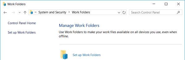 Set up Work Folders