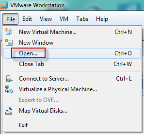 VMware Workstation-File-Open