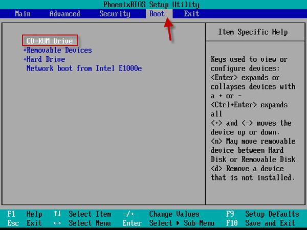 vmware - загрузка ВМ с CD-Rom