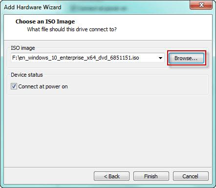 выбрать образ ISO