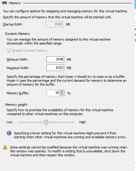 Hyper-V Dynamic Memory