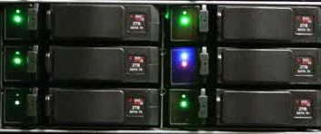LED подсветка диска в сервере - SCSI Enclosure Storage