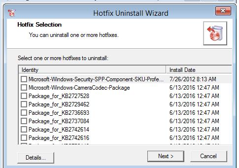 MSDaRT - Hotfix Uninstall - удаление обновления, которое мешает загрузке Windows