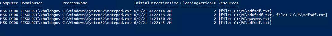 poweshell скрипт для сбора информации об обнаруженных угрозах Windows Defender с удаленных компьютеров