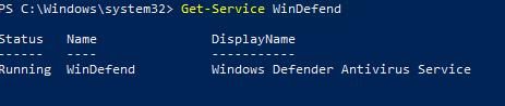 служба WinDefend (Windows Defender Antivirus Service )