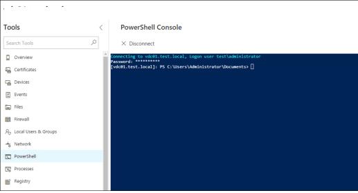 honolulu - powershell веб консоль