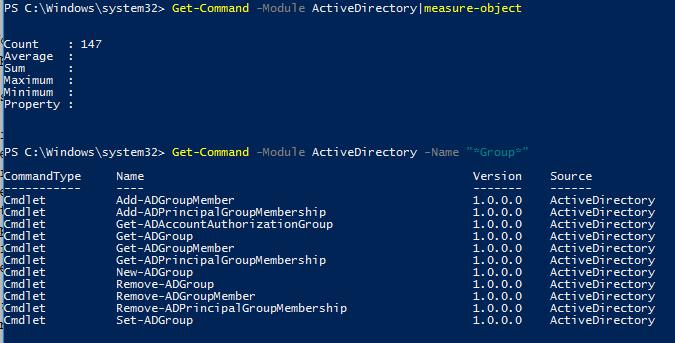 командлеты PowerShell для управления группами Active Directory