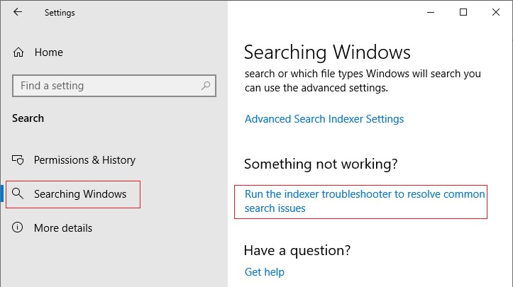 windows 10 запуск SearchDiagnostic
