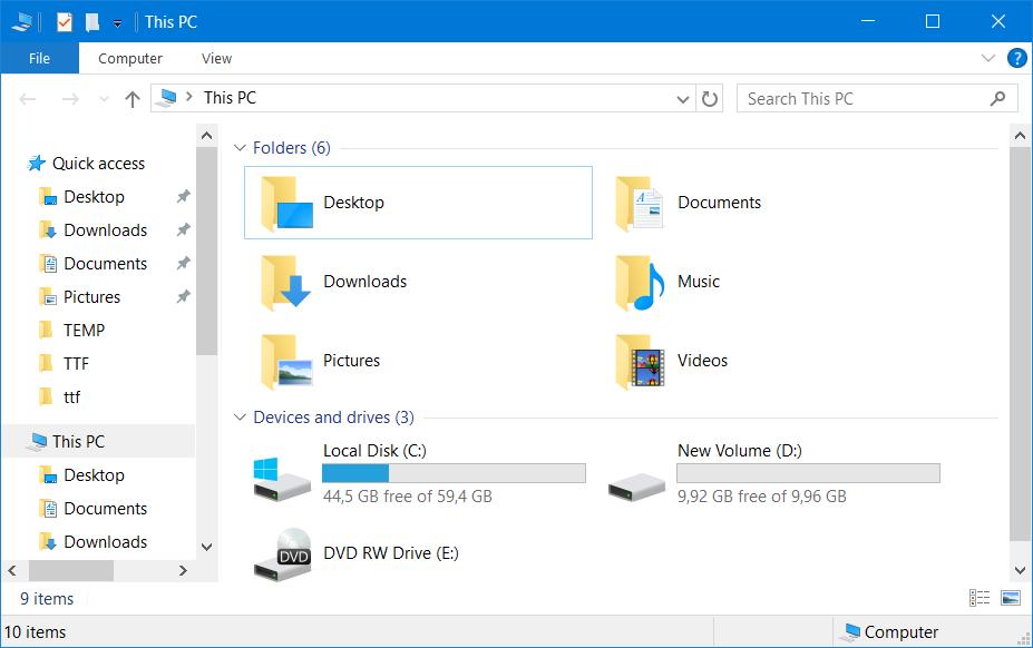 Windows Explorer нет такой буквы