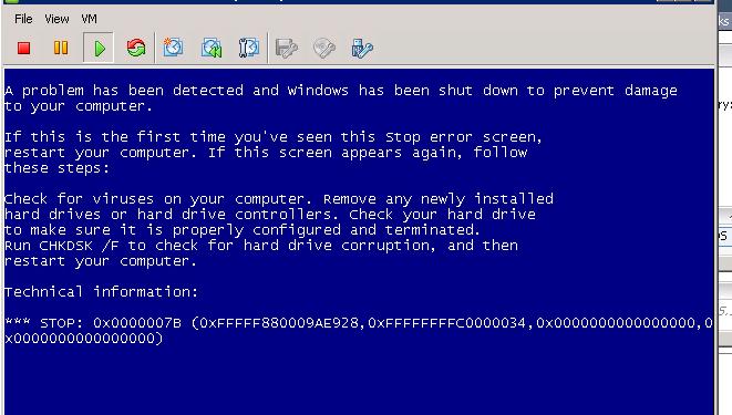 Stop 0x0000007B - Синий экран смерти при загрузке Windows 7 / Windows Server 2008 R2