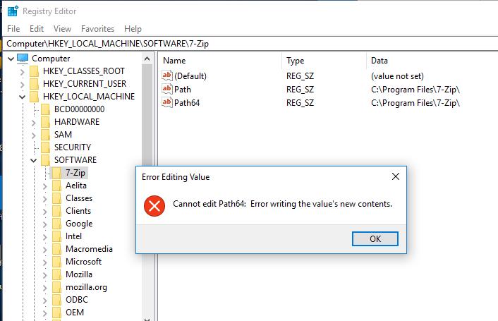 запуск редактора реестра под пользователем