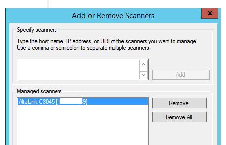 добавить сетевой сканер с поддержкой wsd