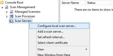 настроить сервер распределенного сканирования