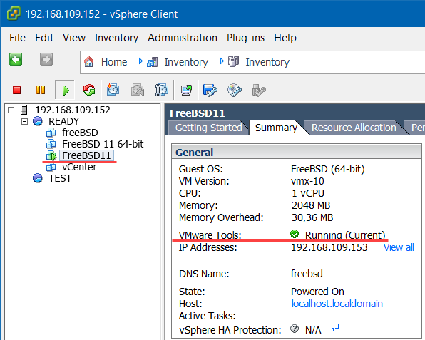 VMware Tools на freebsd 11