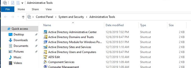 Запустить rsat из Administrative Tools