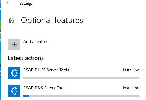 установить компоненты rsat в Windows онлайн