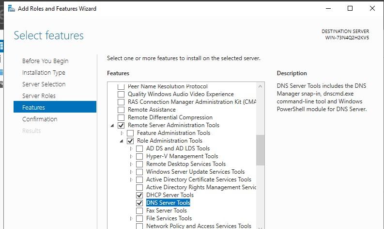 windows server: установка RSAT через Server Manager