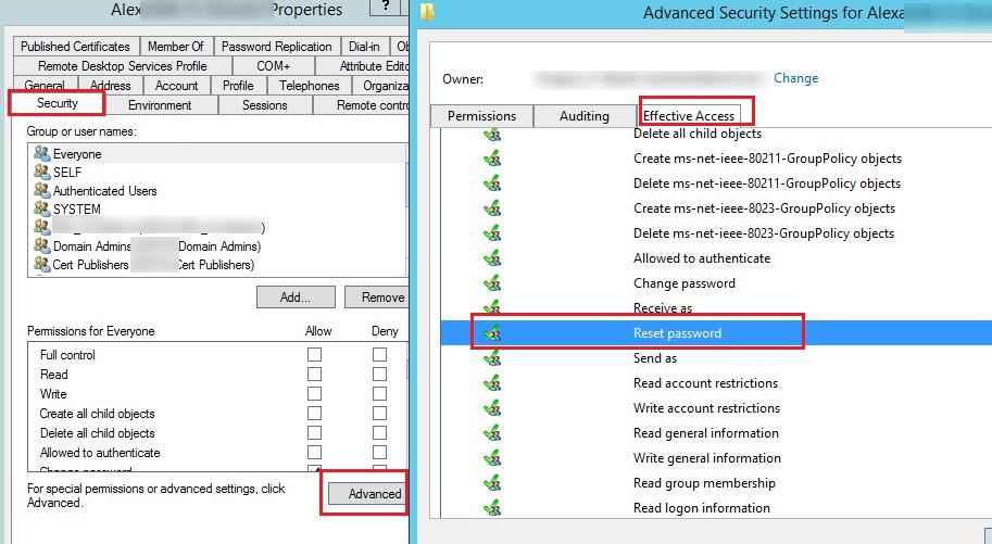 Active Directory эффективные разрешения на сброс пароля пользователяeffektivnie_rasresheniya_reset_password