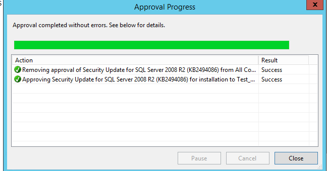approving security update
