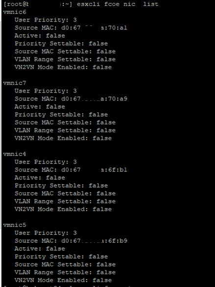 ESXi - FCoE адаптеры отключены Active: false
