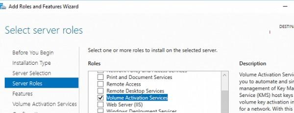 установка роли volume activation service в windows server 2022