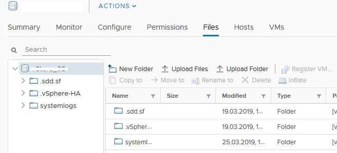 каталог systemlogs для esxi на vmfs datastore