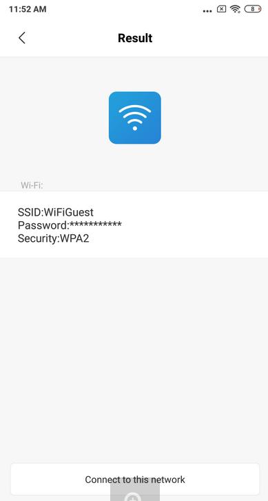 xiaomi - android сохранить wi-fi сети из qr кода