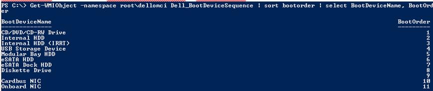 класс dellomci для получения параметров bios на компьютерах DELL