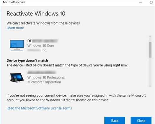 переактивация Windows 10 на другом оборудовании