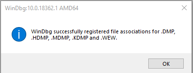 windbg ассоциация .dmp файлов