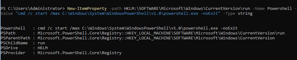 автозапуск консоли powershell в hyper-v 2019