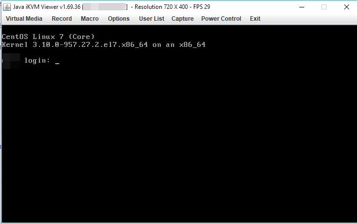 KVM-over-IP - удаленная java консоль сервера через ipmi