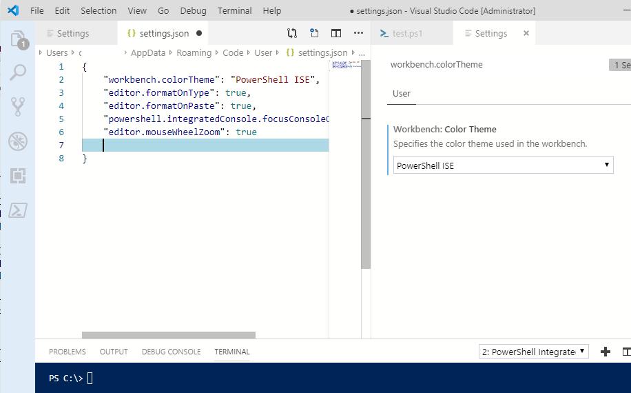 настройка інтерфейсу visual studio code через json файл