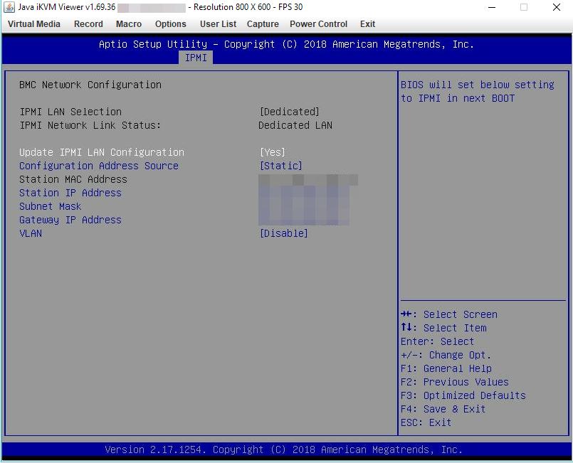 настройка ip адреса ipmi на сервера supermicro