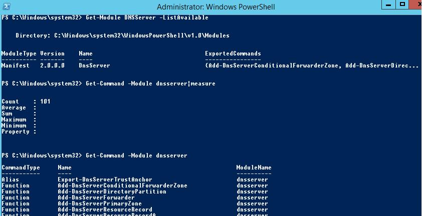 powershell модуль DNSServer