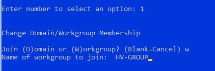 рабочая группа для hyper-v