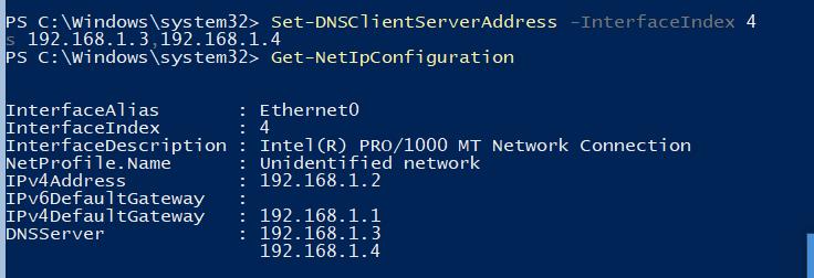 Set-DnsClientServerAddress